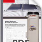 RINNAI PRESTIGE GAS BOOSTED SOLAR 1
